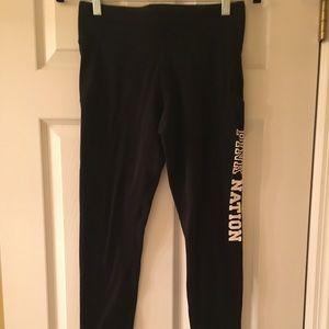 VS Pink- full length leggings. Black, Size S